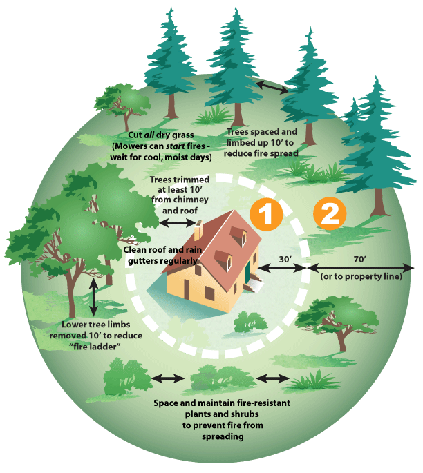 Defensible Space Saves Homes